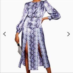 Brand new! Topshop Purple Snake Dress Size US 2